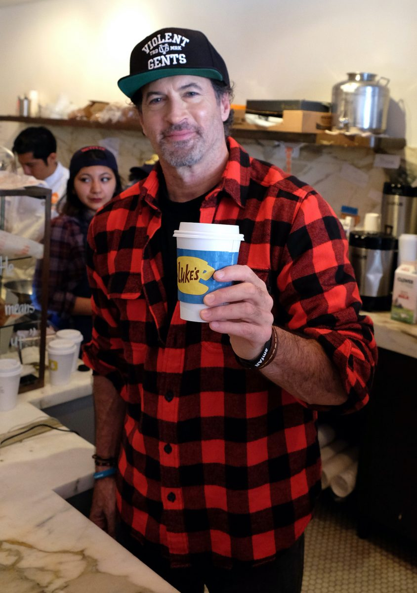 Scott Patterson at a 'Gilmore Girls' themed pop-up of Luke's Diner