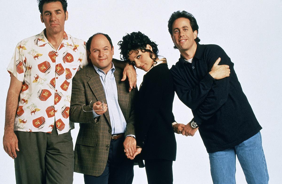 Michael Richards, Jason Alexander, Julia Louis-Dreyfus, and Jerry Seinfeld