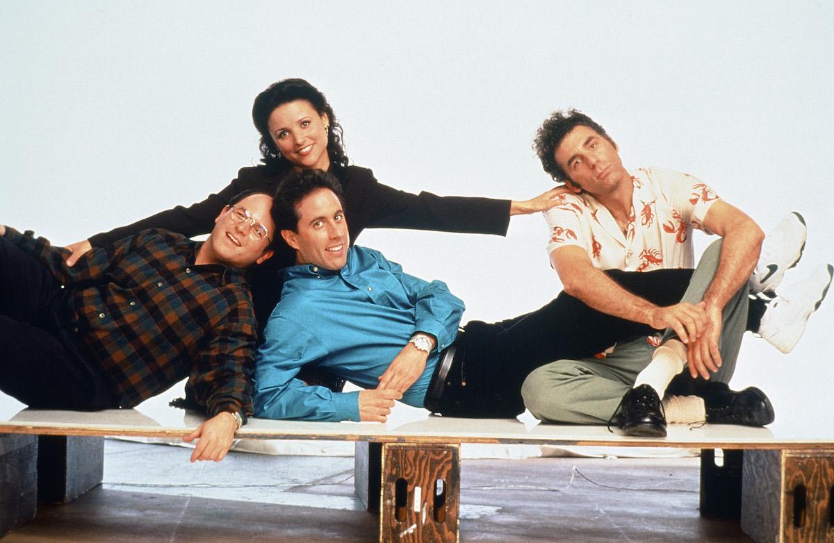 Jason Alexander, Julia Louis-Dreyfus, Jerry Seinfeld, and Michael Richards