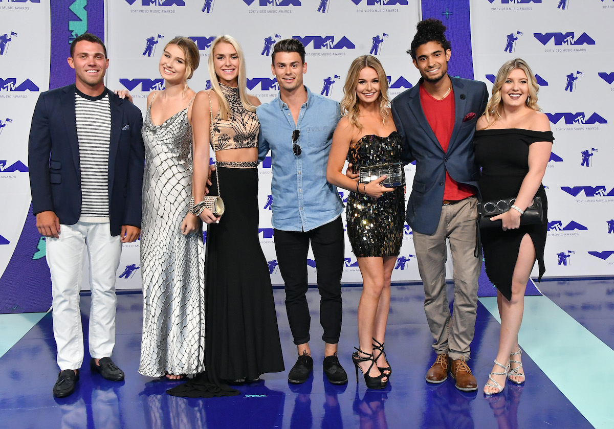 The cast of Siesta Key attends the 2017 MTV Video Music Awards