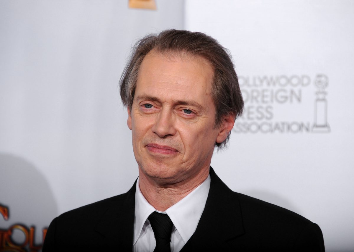 """Steve Buscemi poses with his award for Best Actor in a Television Series (Drama) for """"Boardwalk Empire"""" in the press room at the 68th Annual Golden Globe Awards"""