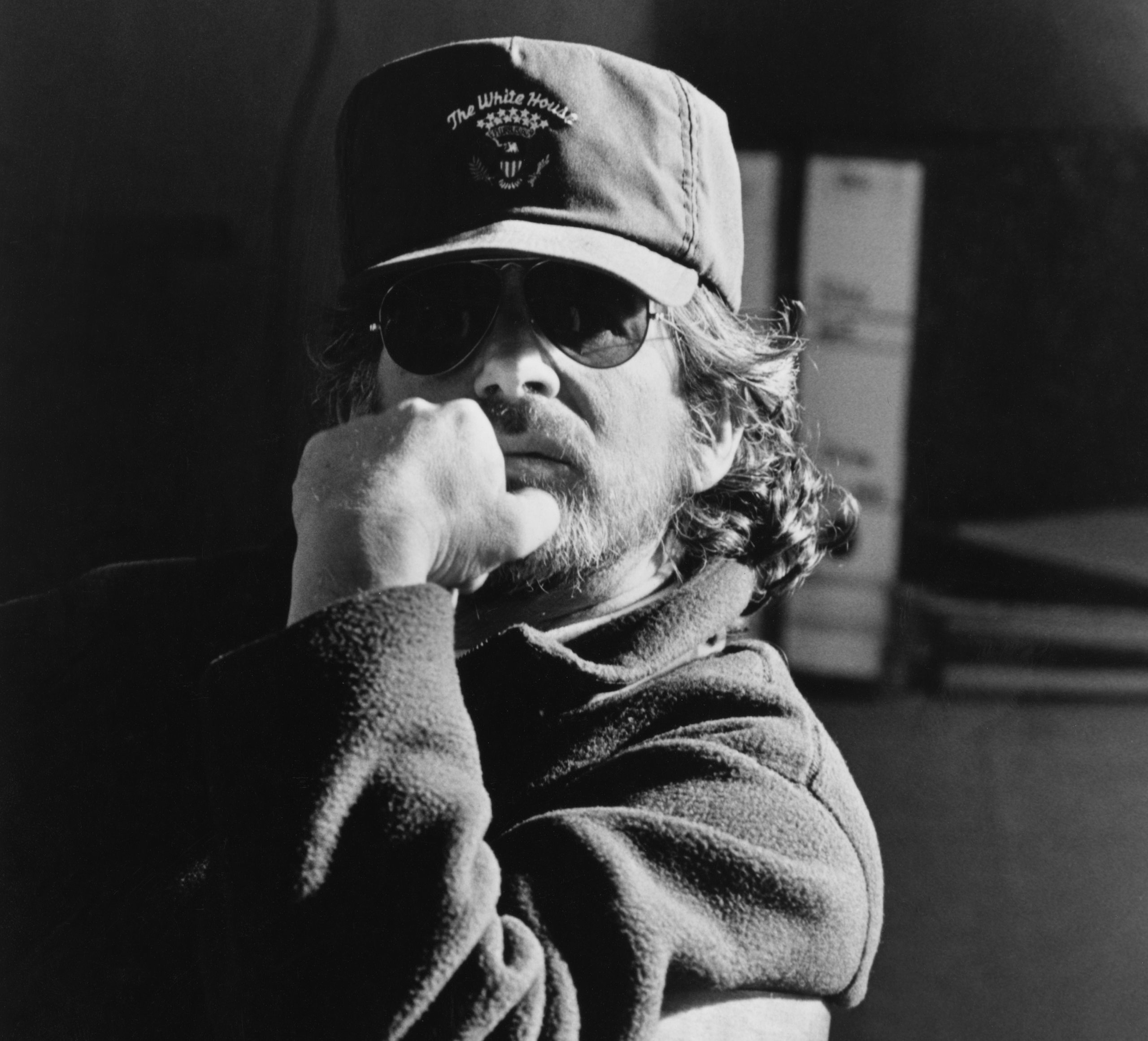 Steven Spielberg on set of Schindler's List