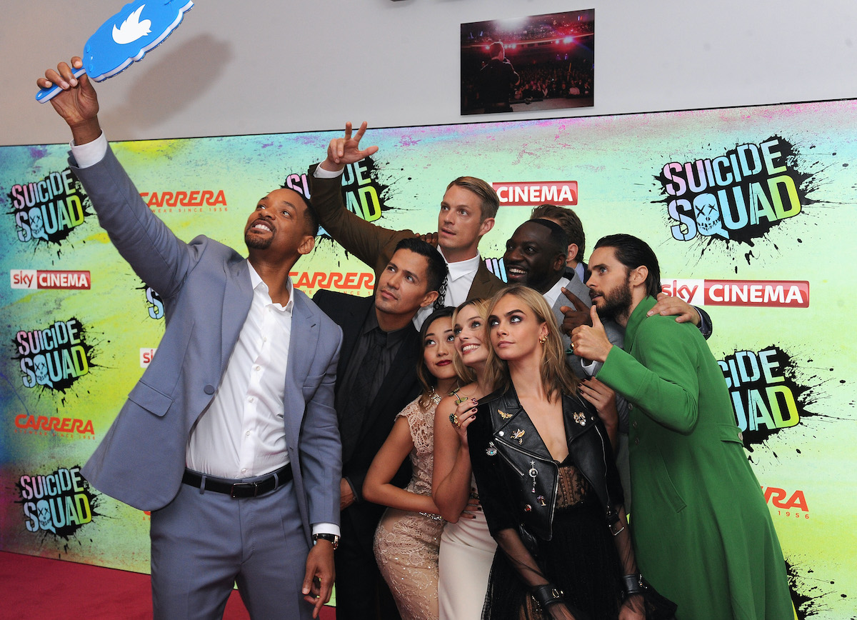 The cast of 'Suicide Squad' at the movie's European premiere