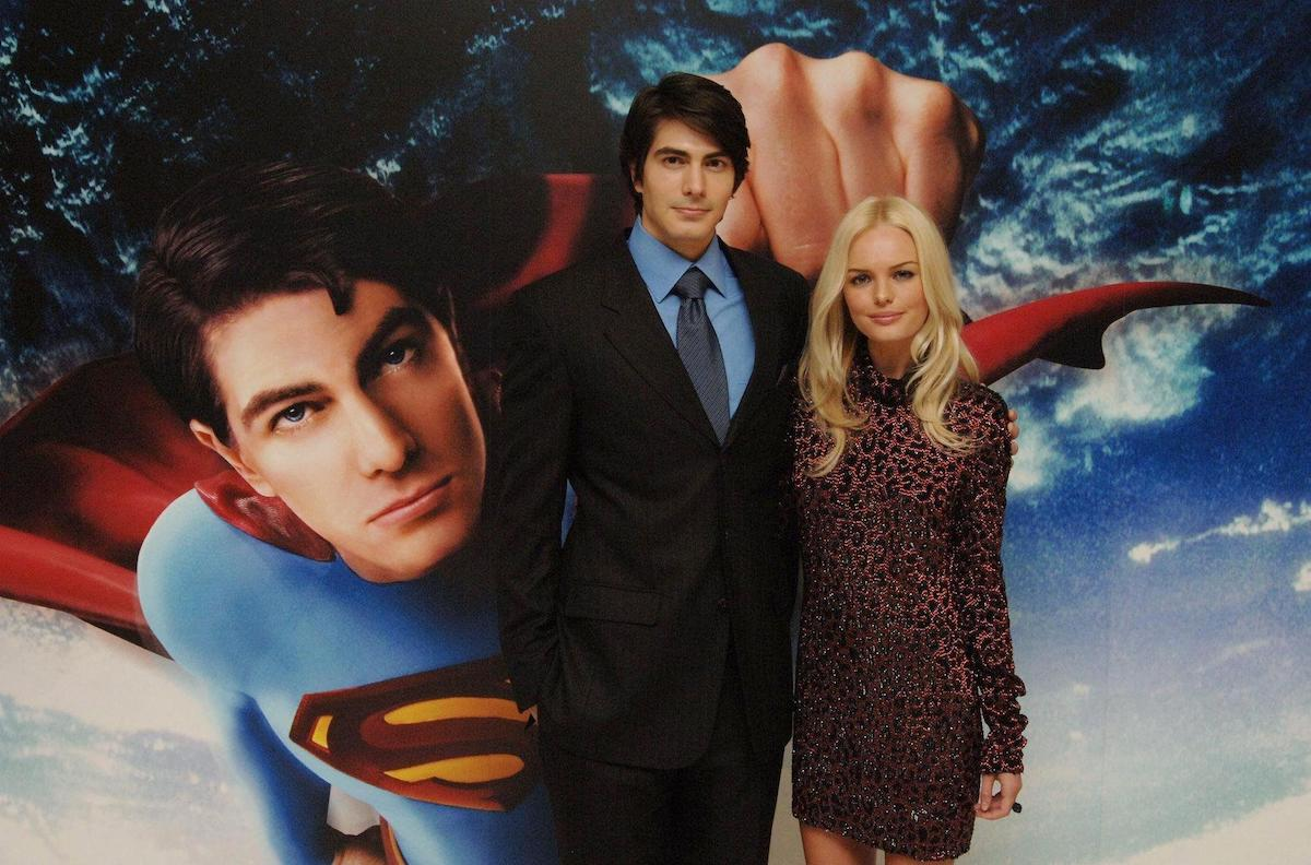 Kate Bosworth and Brandon Routh at the UK premiere of 'Superman Returns'