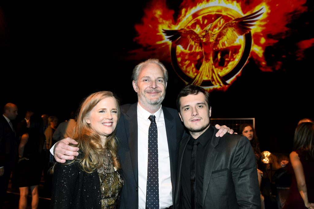 Suzanne Collins, author the Hunger Games books, Francis Lawrence, and Josh Hutcherson