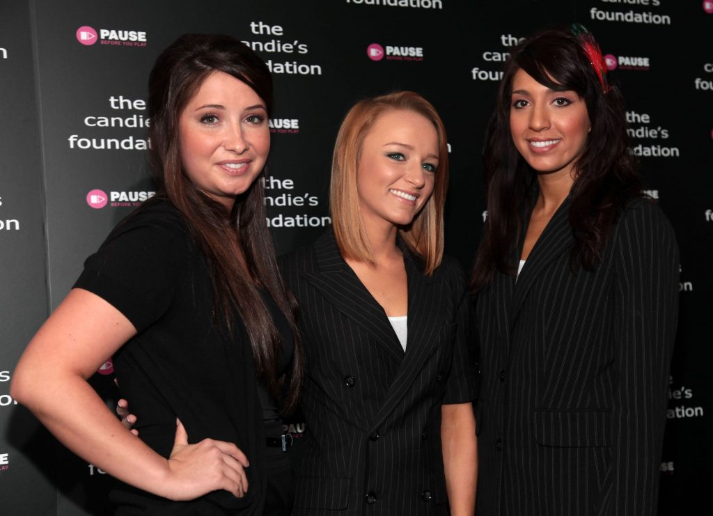 """(L-R) Bristol Palin and TV Personalities from MTV's """"Teen Mom"""" Maci Bookout and Farrah Abraham"""