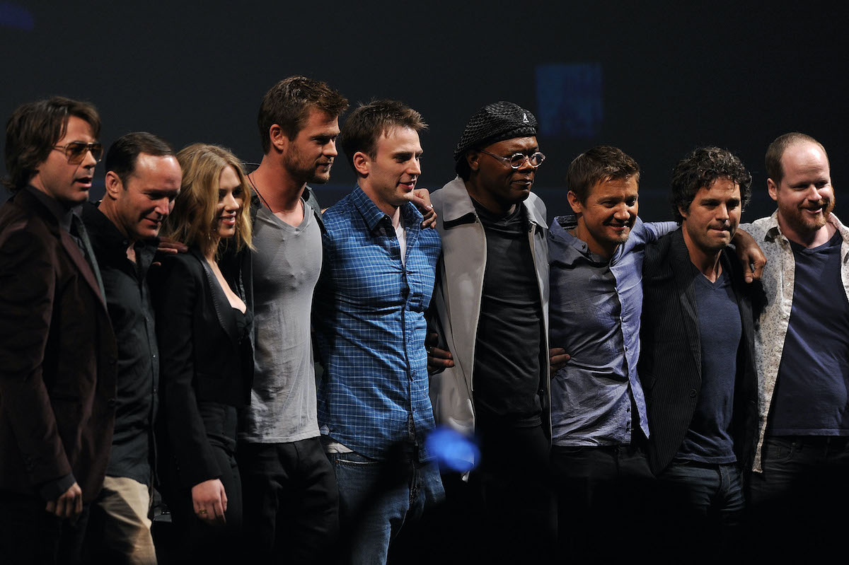 The cast of 'The Avengers' and writer-director Joss Whedon