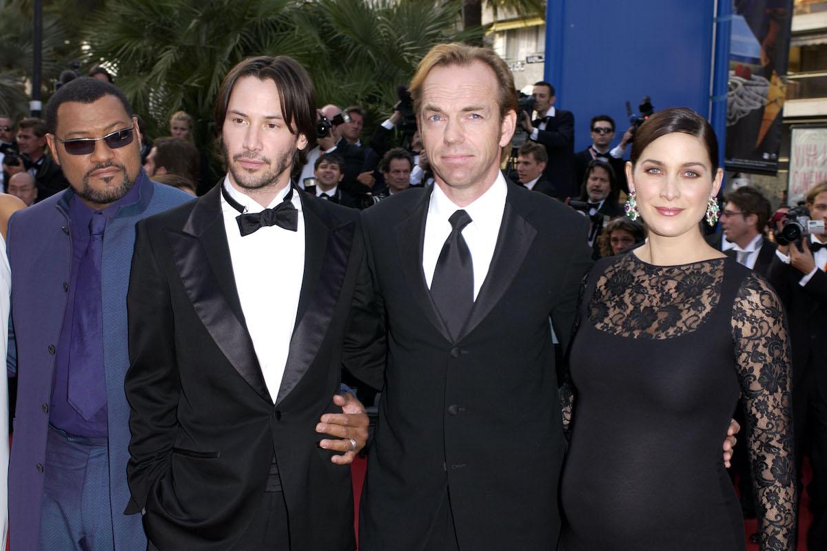 Laurence Fishburne, Keanu Reeves, Hugo Weaving, and Carrie-Anne Moss