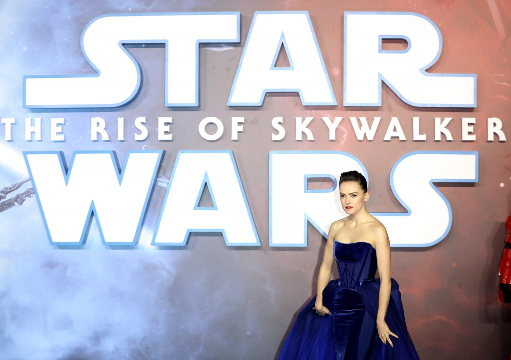 Daisy Ridley attends the 'Star Wars: The Rise of Skywalker' European Premiere