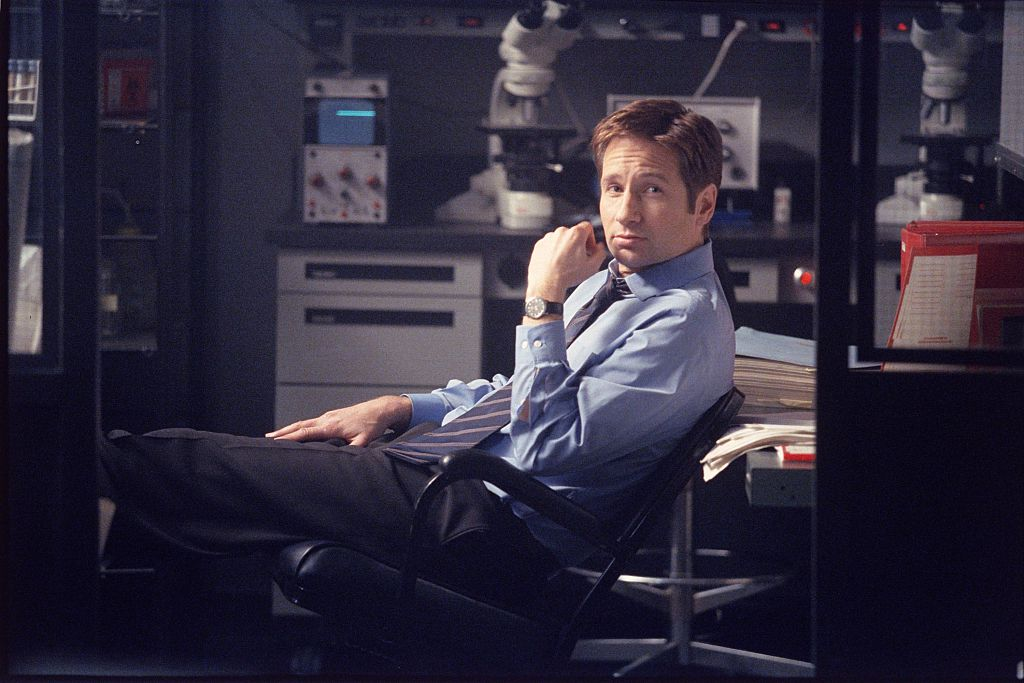 David Duchovny as Agent Fox Mulder on The X-Files