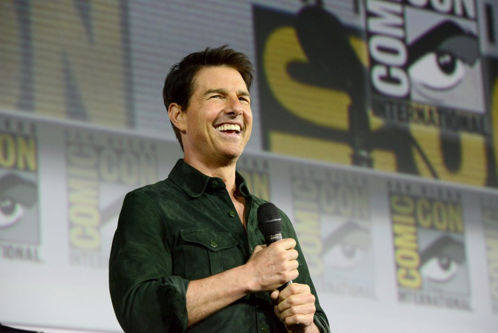 Tom Cruise makes a surprise appearance to discuss 'Top Gun: Maverick' during 2019 Comic-Con International at San Diego Convention Center