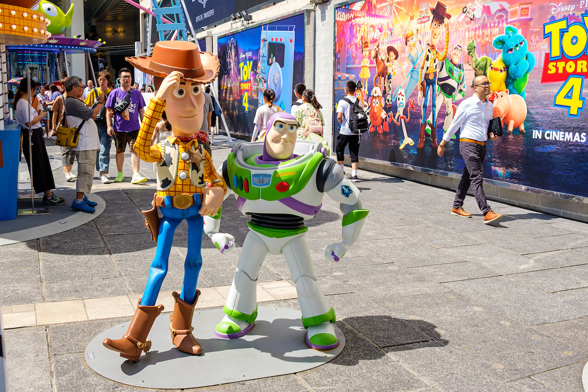 Woody and Buzz Lightyear at Hong Kong Harbour City