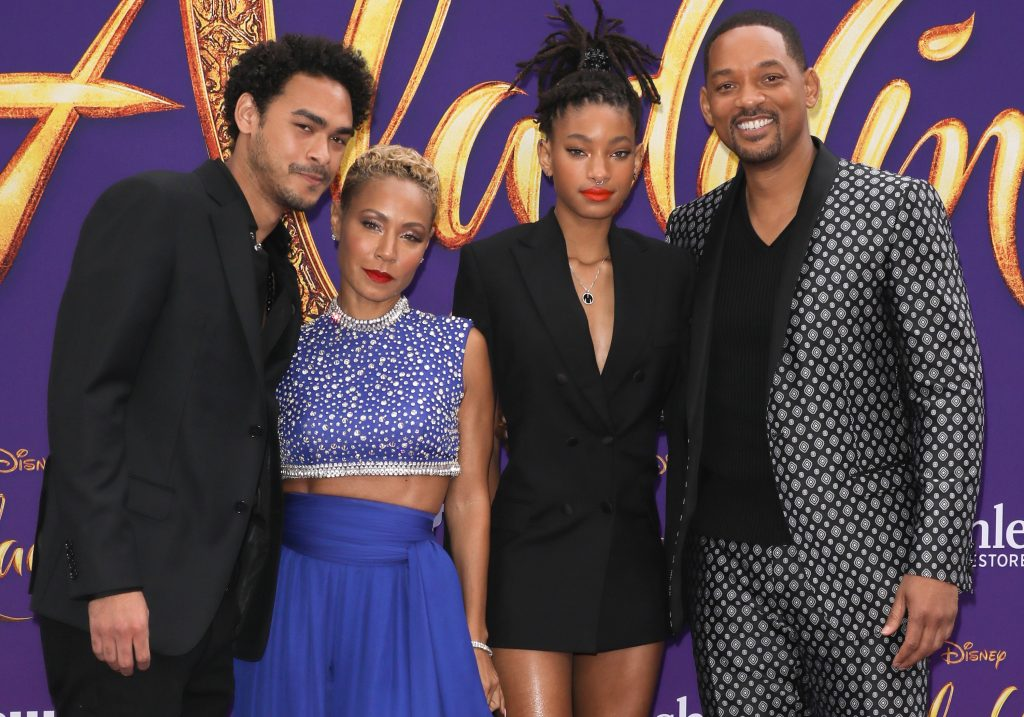 Trey Smith, Jada Pinkett Smith, Willow Smith, and Will Smith