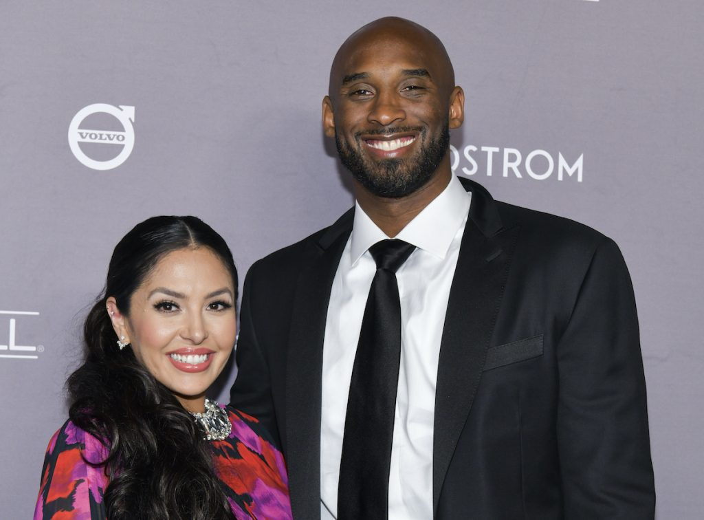 Vanessa and Kobe Bryant at an event