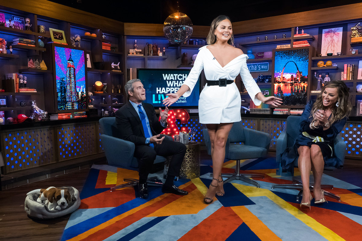 Andy Cohen, Chrissy Teigen and Kelly Dodd