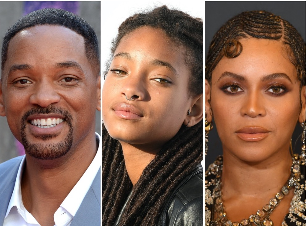 Will Smith, Willow Smith, and Beyoncé