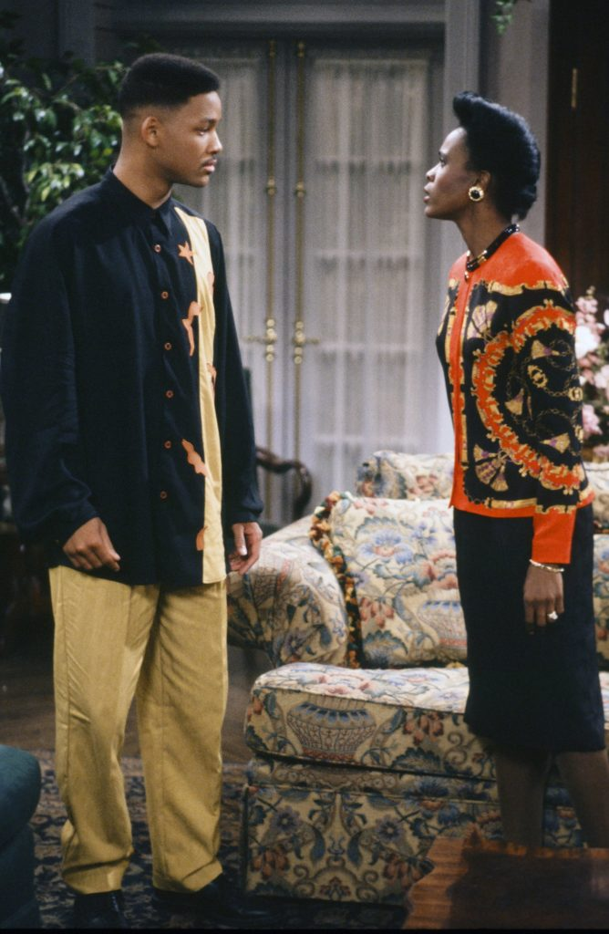 Will Smith as William 'Will' Smith and  Janet Hubert as Vivian Banks