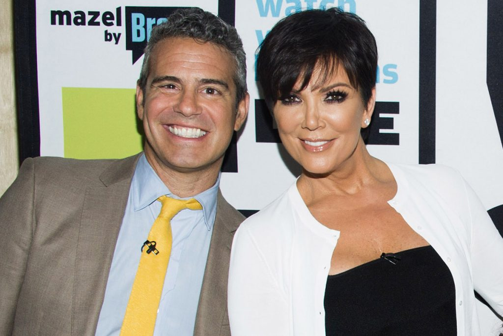 Andy Cohen and Kris Jenner