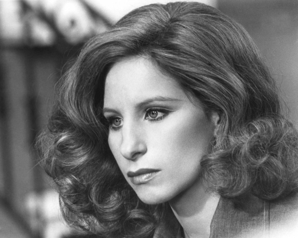 Barbra Streisand with curly hair