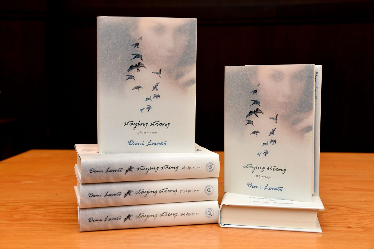 Copies of Demi Lovato's new book 'Staying Strong: 365 Days A Year' displayed at Barnes & Noble bookstore at The Grove on November 23, 2013, in Los Angeles, California.