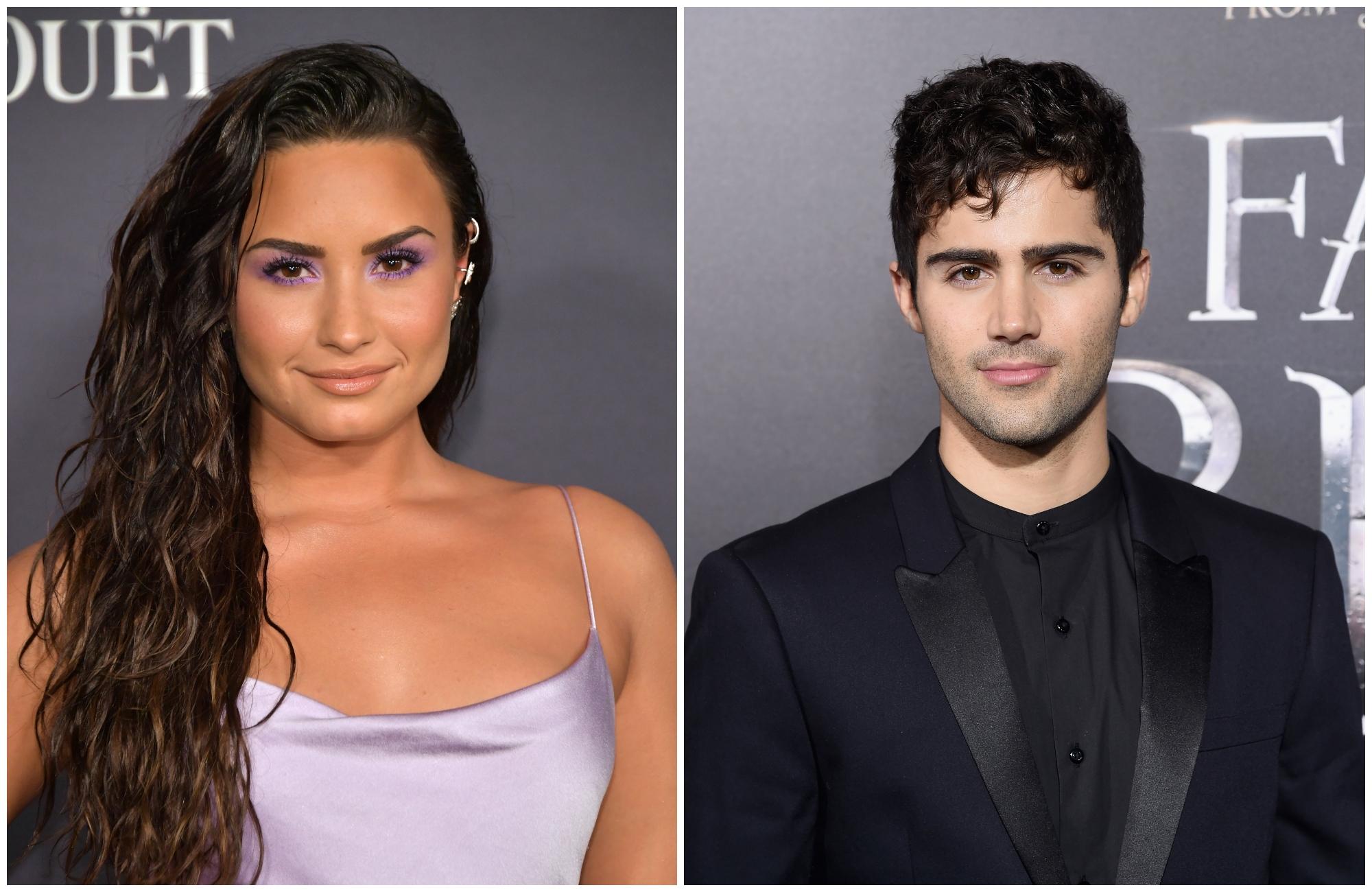 Demi Lovato Max Ehrich composite
