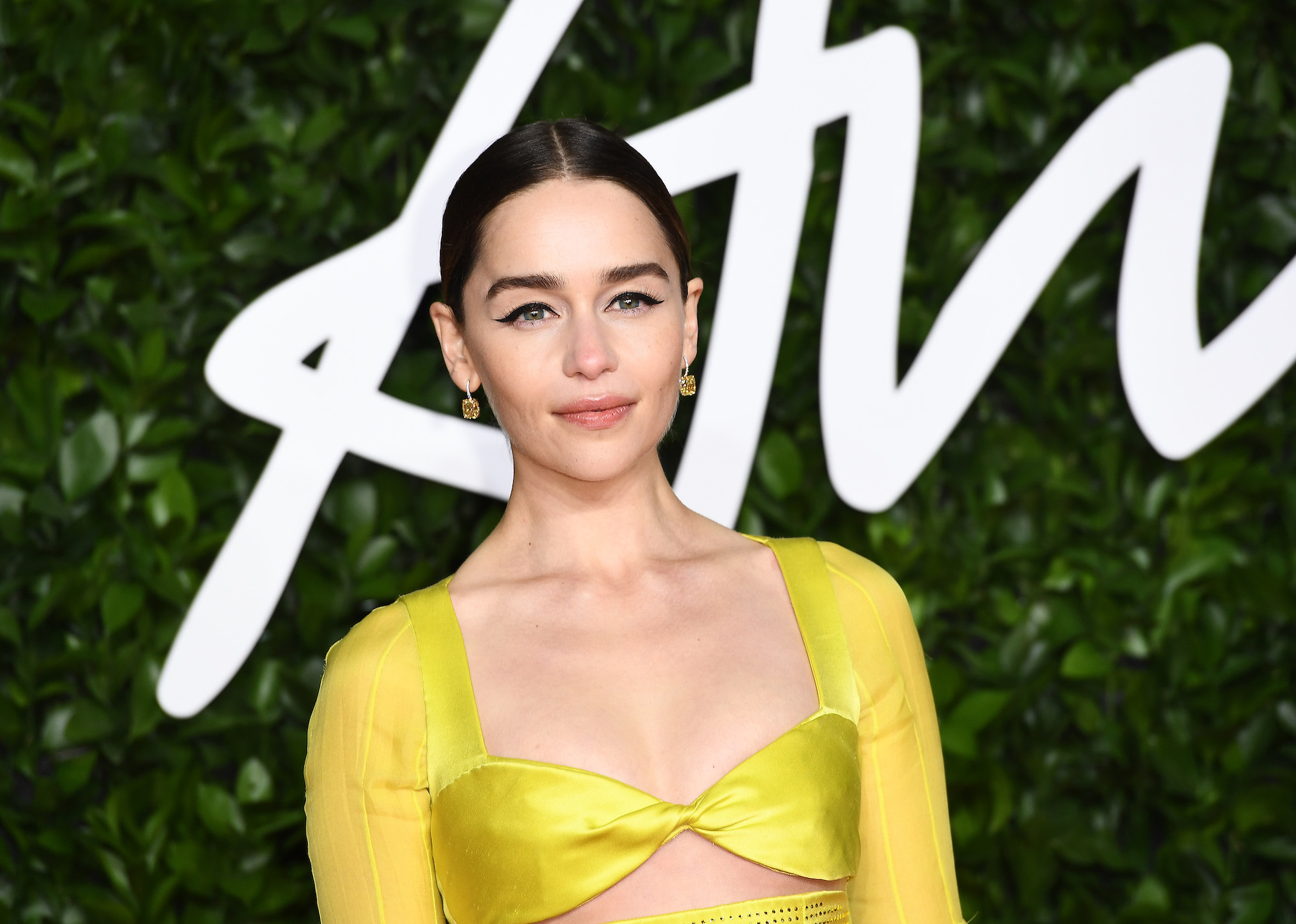 Emilia Clarke at The Fashion Awards 2019 held at Royal Albert Hall on Dec. 02, 2019.