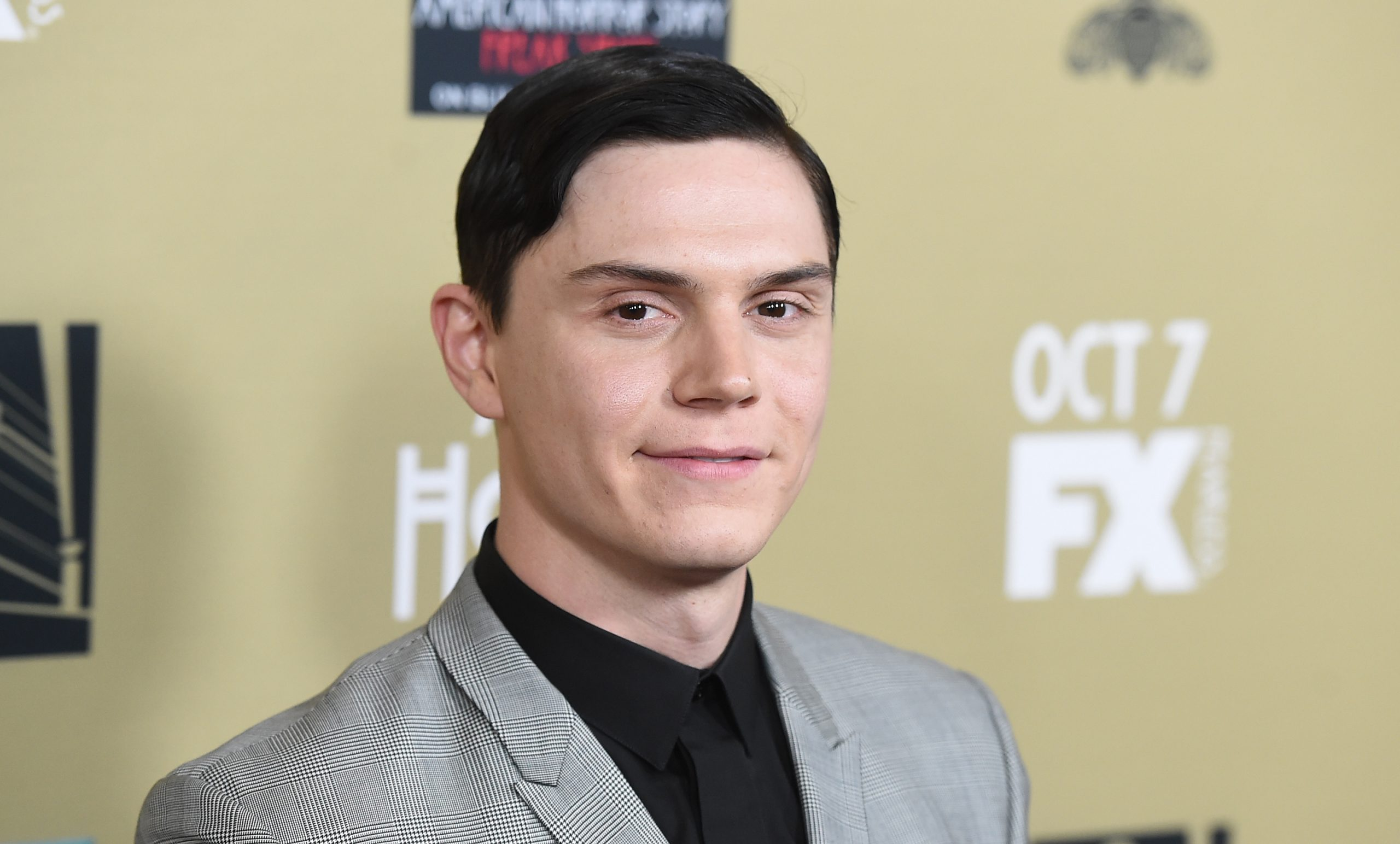 Evan Peters at the premiere screening of FX's 'American Horror Story: Hotel' on Oct. 3, 2015