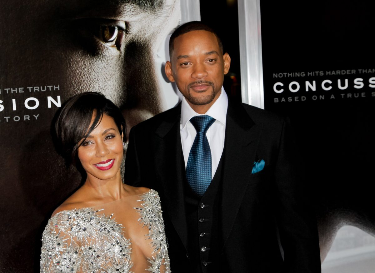 Jada Pinkett Smith and Will Smith attend the screening 'Concussion' on November 23, 2015 in Westwood, California.