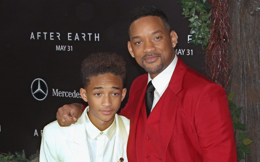 Jaden Smith and Will Smith attend the 'After Earth' premiere at the Ziegfeld Theater on May 29, 2013