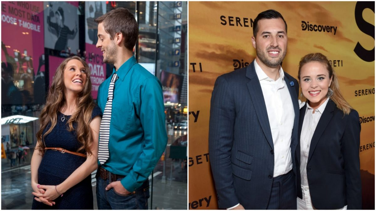 Side by side image of Jill and Derick and Jeremy and Jinger