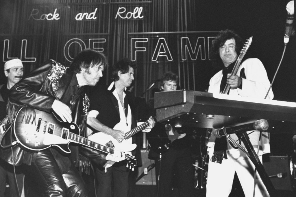 Keith Richards and Jimmy Page jam