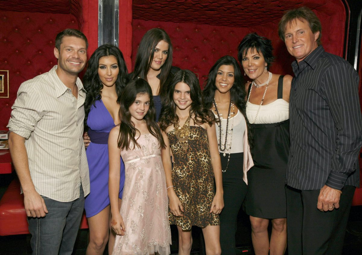 Ryan Seacrest and the cast of 'Keeping Up With the Kardashians' at the KUWTK viewing party at Chapter 8 Restaurant on October 16, 2007