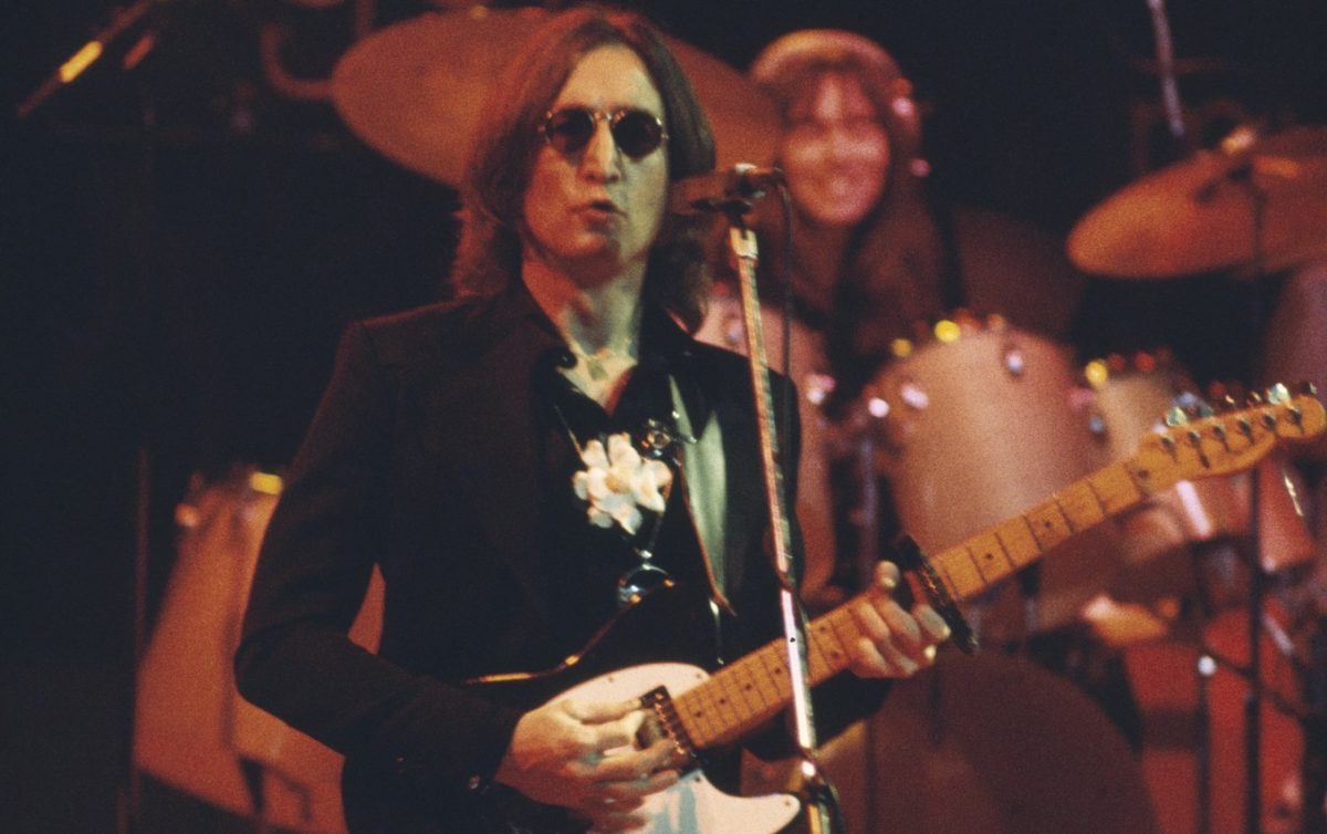 Lennon on stage, 1974