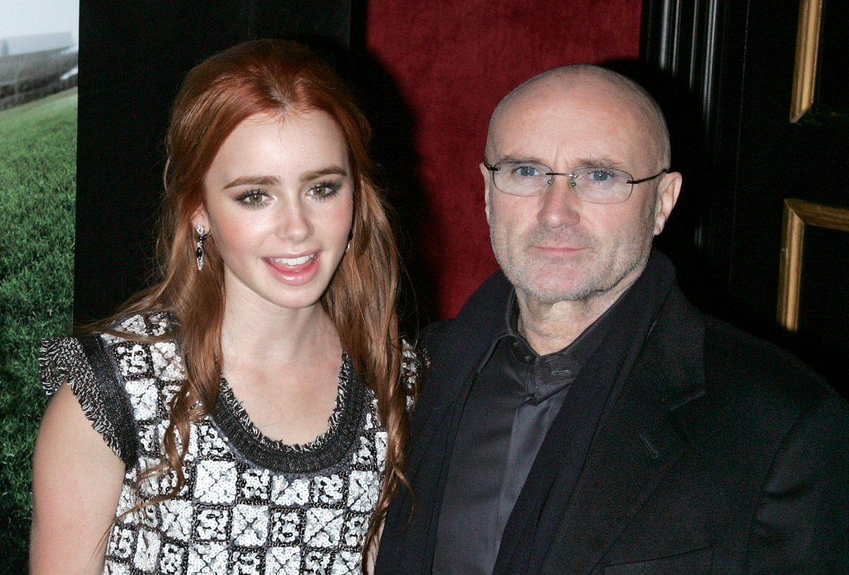 Lily Collins and Phil Collins attend 'The Blind Side' premiere on November 17, 2009 in New York City.