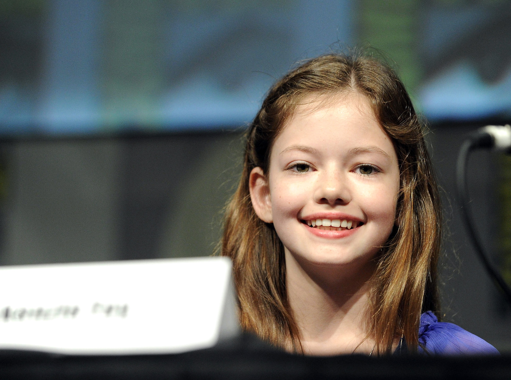Mackenzie Foy at the 'The Twilight Saga: Breaking Dawn - Part 2' panel during San Diego Comic-Con International 2012 on July 12, 2012.