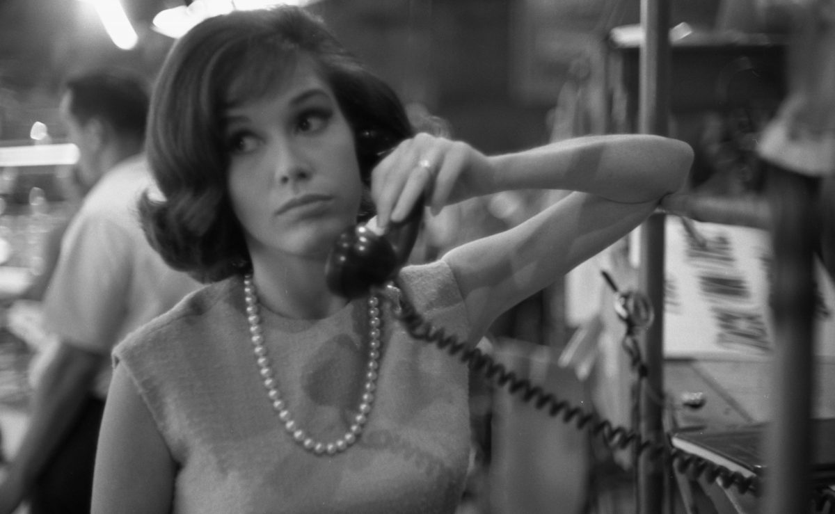 Mary Tyler Moore on the telephone