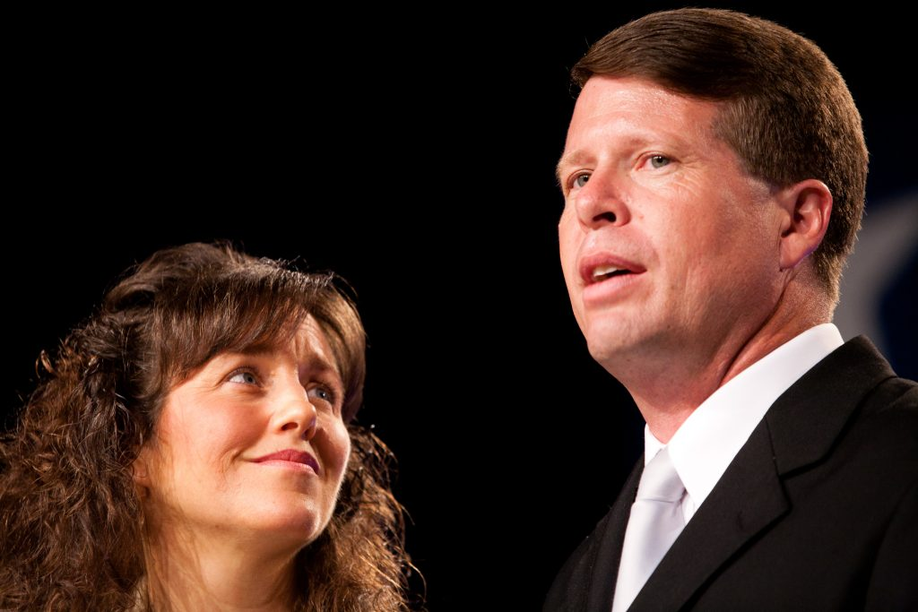 Michelle gazing at Jim Bob Duggar