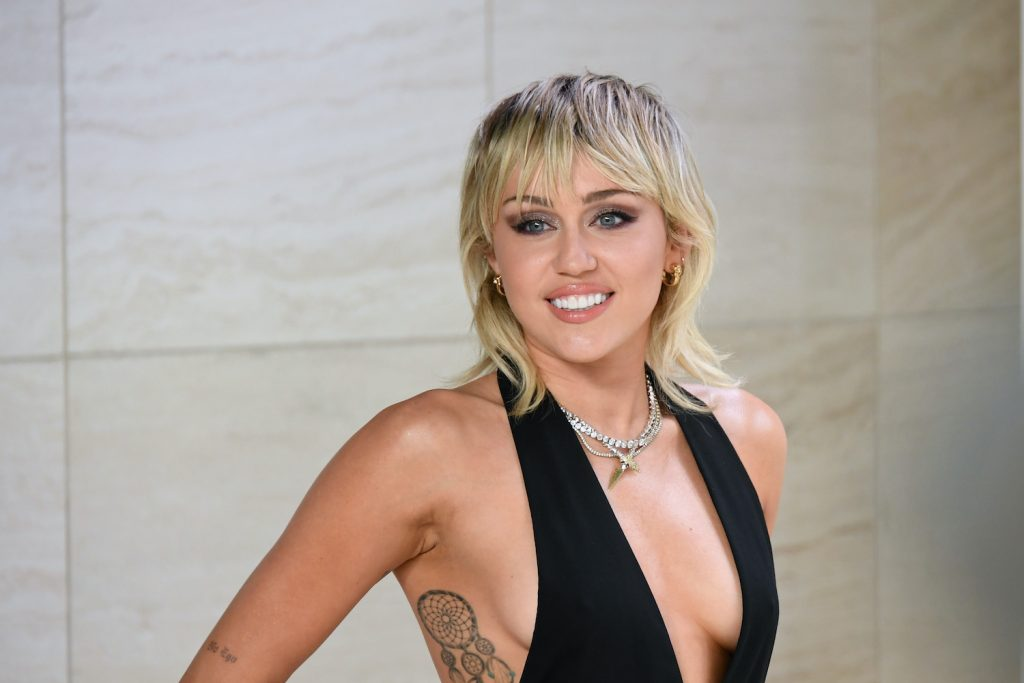 Miley Cyrus attends the Tom Ford AW20 Show at Milk Studios on February 07, 2020