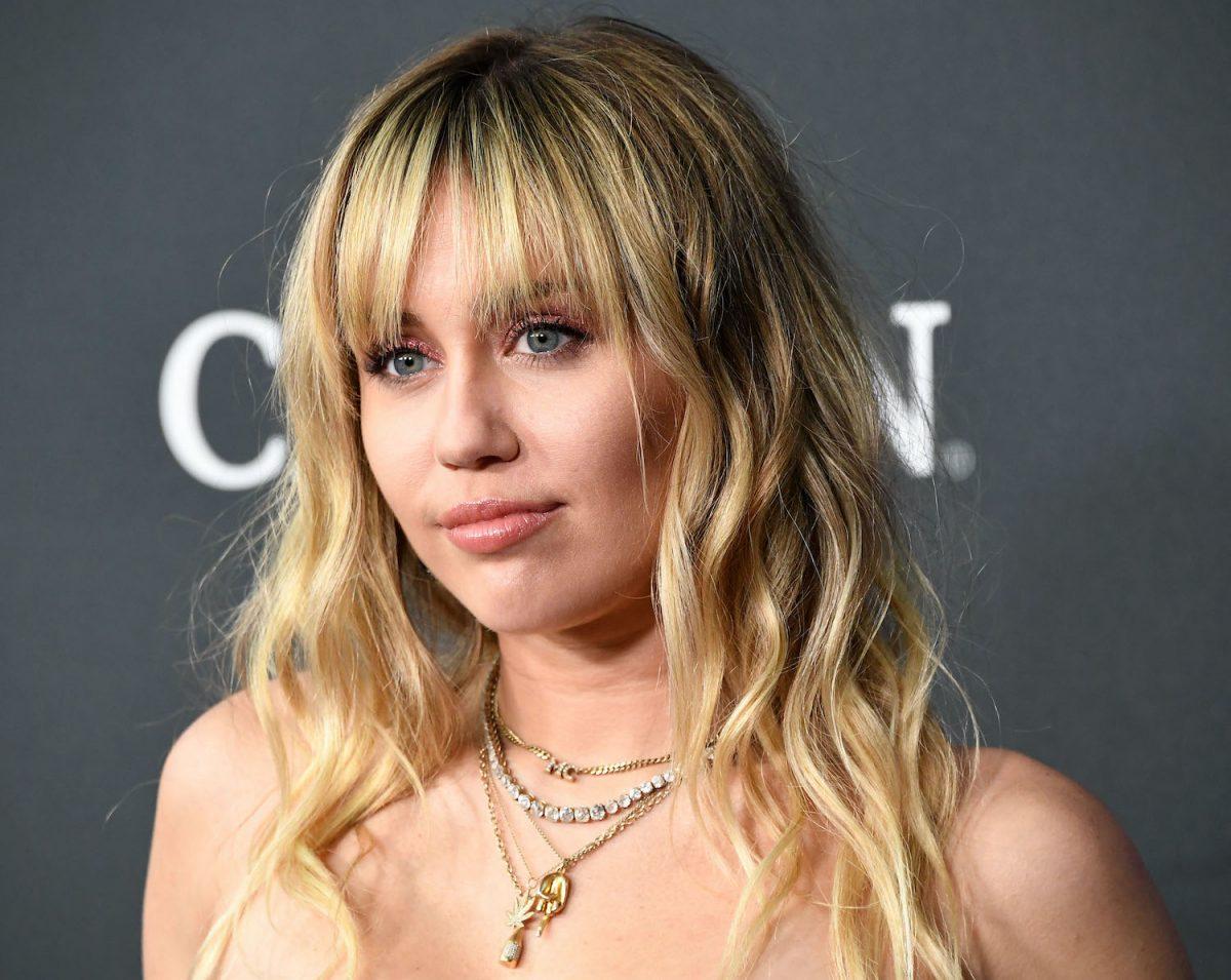 Miley Cyrus arrives at the world premiere Of Walt Disney Studios Motion Pictures Avengers: Endgame
