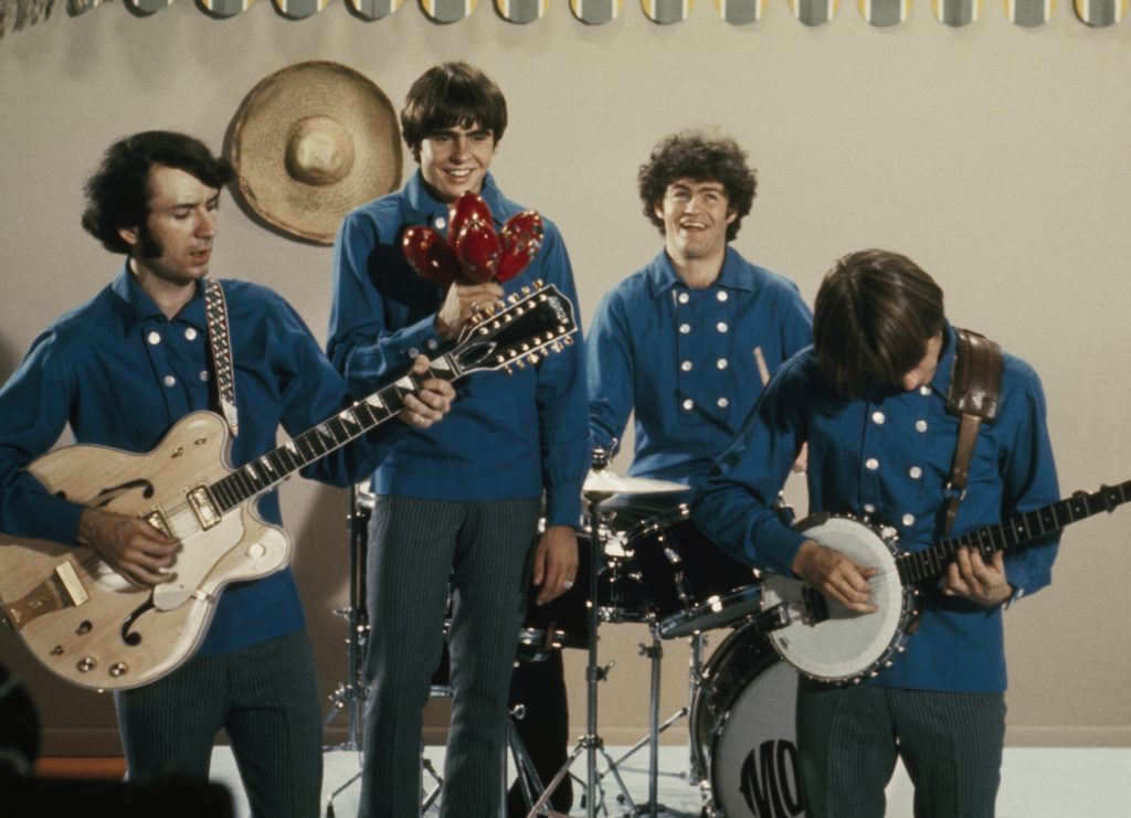 The Monkees wearing blue