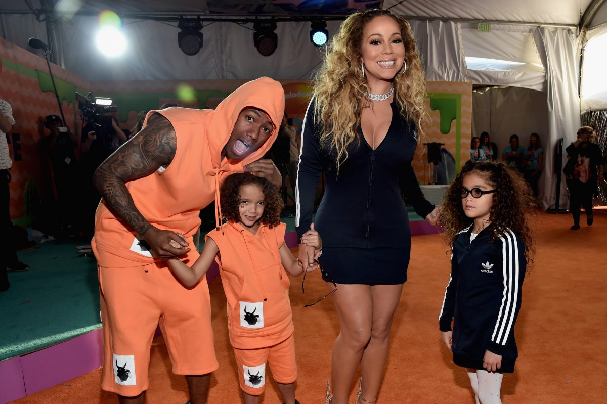 Nick Cannon, Moroccan Scott Cannon, Mariah Carey, and Monroe Cannon at Nickelodeon's 2017 Kids' Choice Awards on March 11, 2017