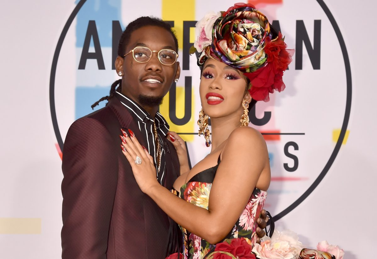 Offset of Migos (L) and Cardi B attend the 2018 American Music Awards on October 9, 2018 in Los Angeles, California.