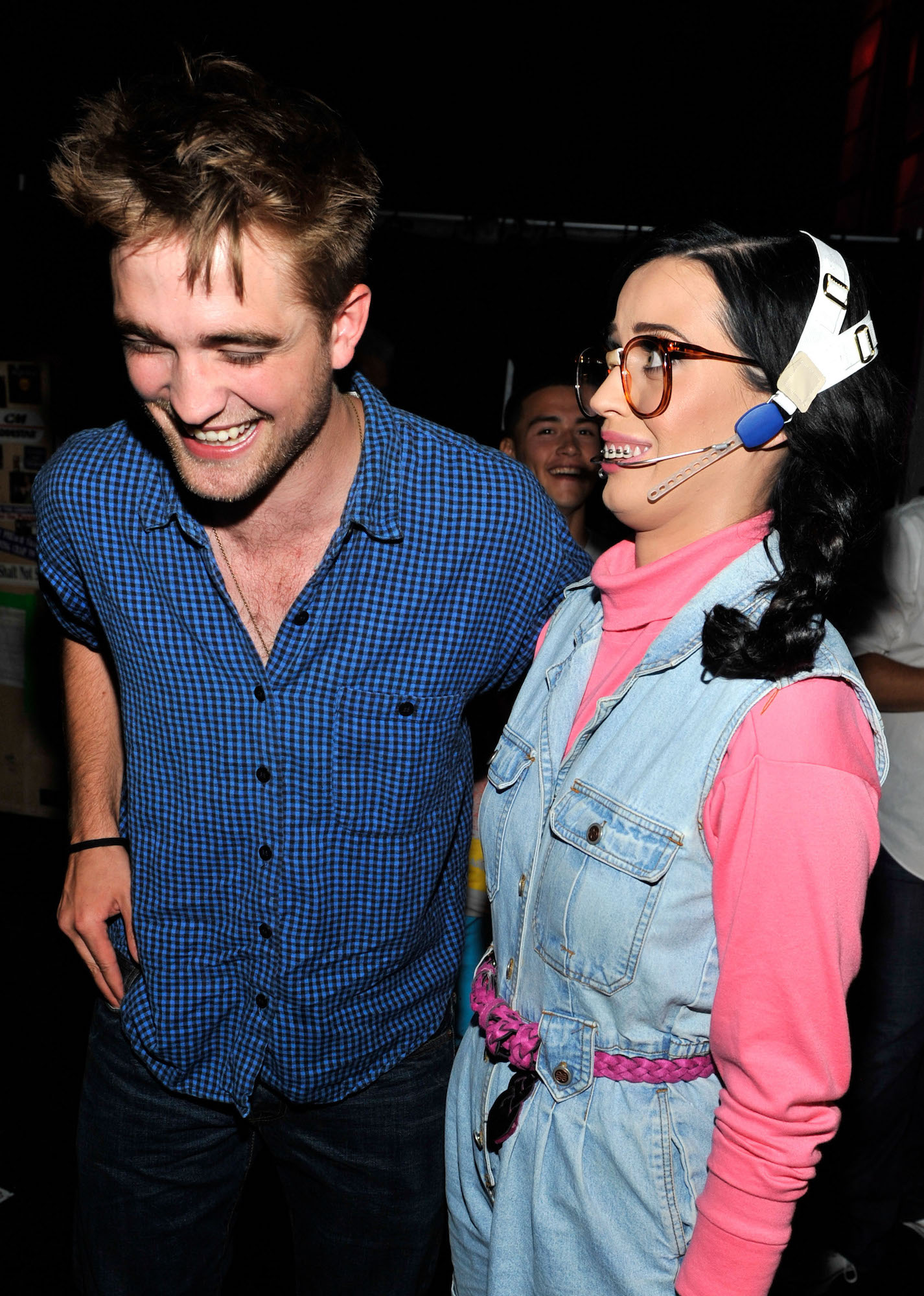 Robert Pattinson and host Katy Perry at the 2010 Teen Choice Awards on Aug. 8, 2010.