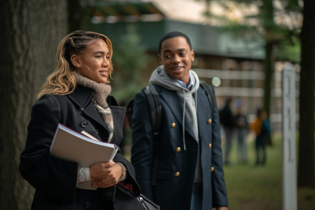 Michael Rainey Jr and Paige Hurd in Power Book 2