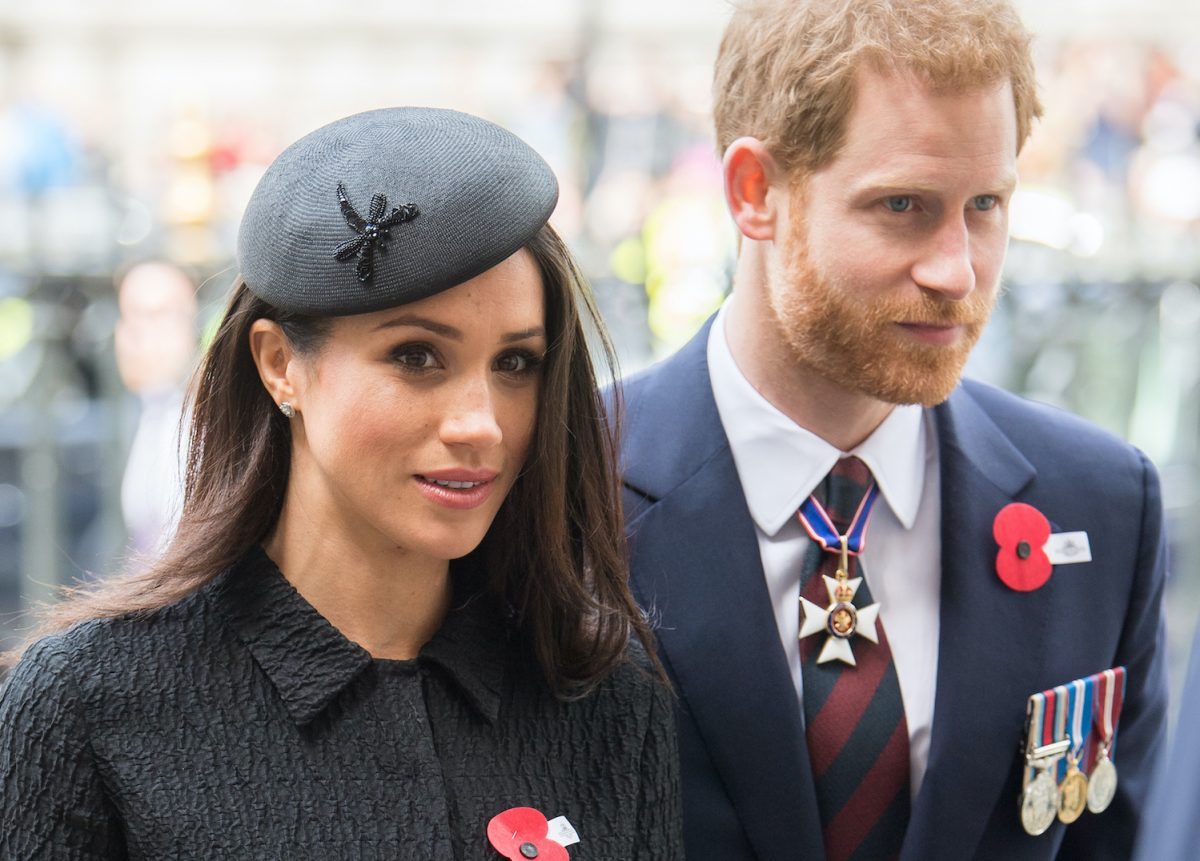 Prince Harry and Meghan Markle attend the Anzac Day service at Westminster Abbey