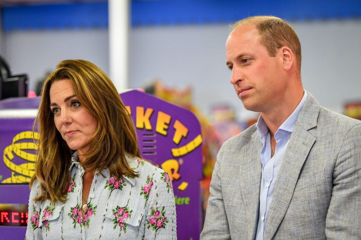 Prince William and Kate Middleton at Island Leisure Amusement Arcade