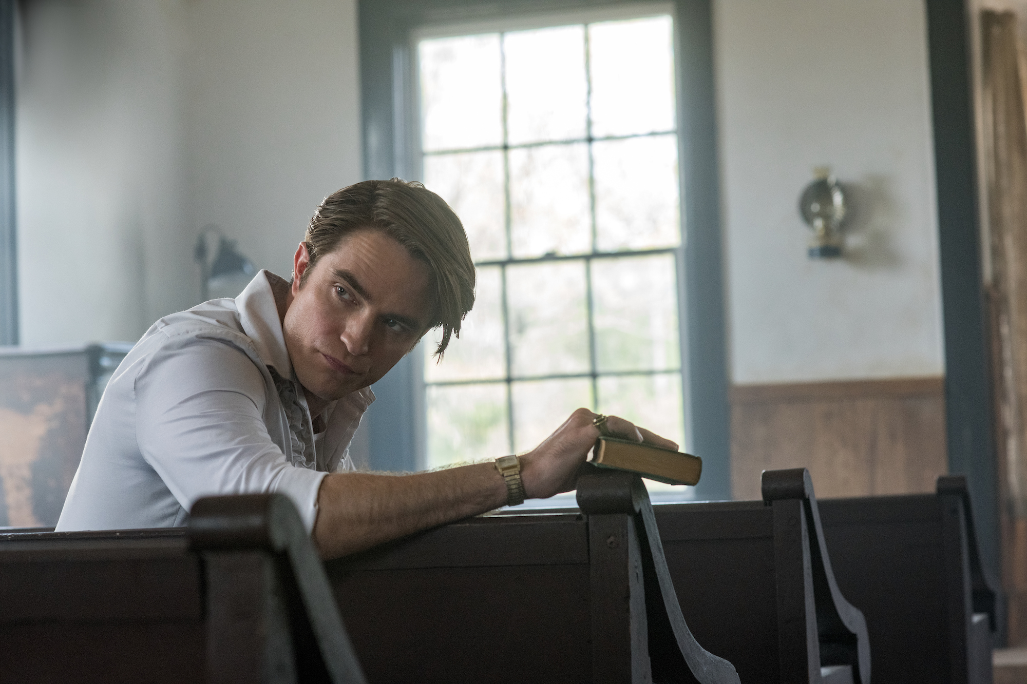 Robert Pattinson in 'The Devil All The Time' as Preston Teagardin.