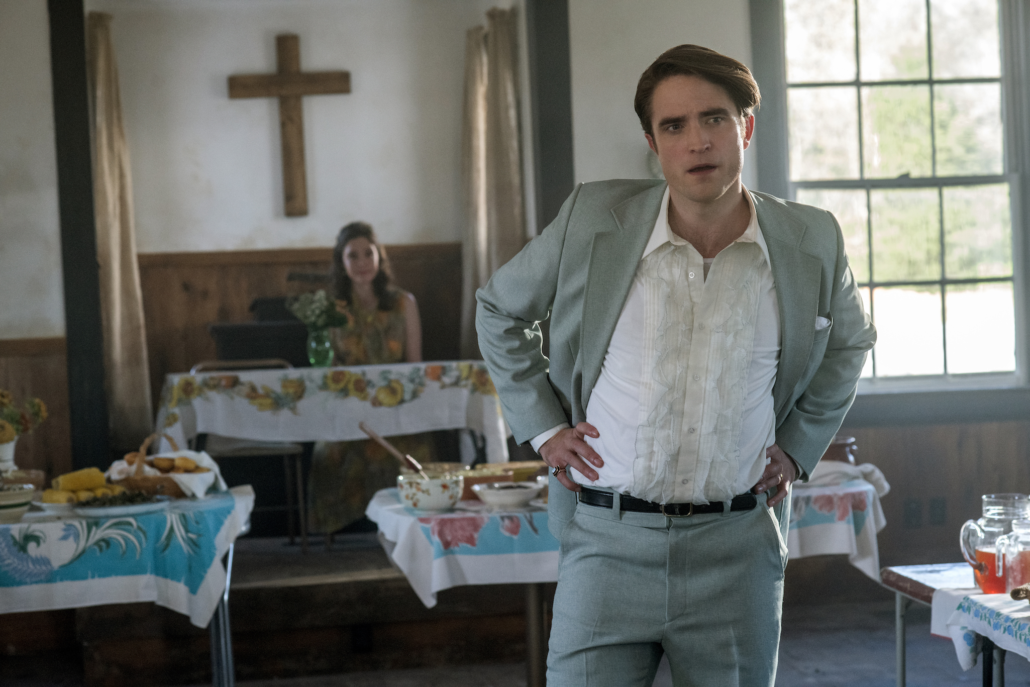 The Devil All The Time: Robert Pattinson as Preston Teagardin.