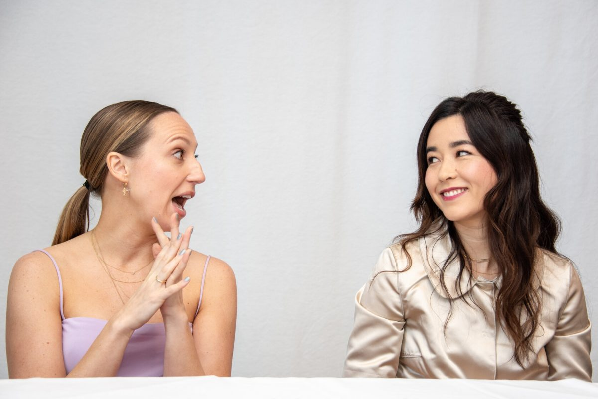 """Anna Konkle and Maya Erskine at the """"PEN15"""" Press Conference at The London Hotel"""