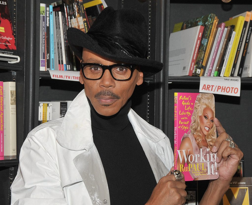 RuPaul wearing a hat